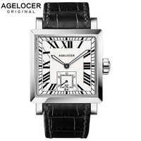 2020 AGELOCER Swiss Top Brand Luxury Men Watches Sport Wristwatches Mens Luminous Business Retro Clock Reloj Hombre Marca 3302A1