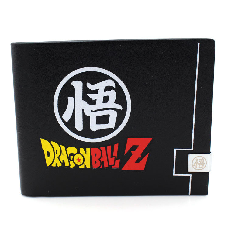 Anime Dragon Ball Dragonball Z Bifold Wallet Men PU Leather Black Short Purse Cosplay DBZ Son Goku Photo Card Holder Wallets japan anime date a live wallet tokisaki kurumi cosplay wallets coin card women men bifold purse