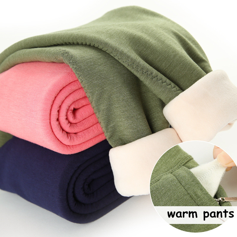 3-15T Children Winter Warm Pants 3 Layers Thicking Plus Velvet Cotton Pants For Boys Girls Wool Mezzanine Leggings Kids Clothes 4t 14t children s clothing pants leggings warm three layers plus plush thickening cotton baby girl clothes winter children
