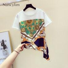 T-shirt Summer Women New Fashion Printed Sliced Cotton Short Sleeved T-