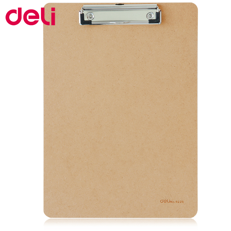 Deli Writing Board Clamp Paper Board Clip Folder A4 Pad Plate Clip A5 Wood Hanging Workshop Office Stationery