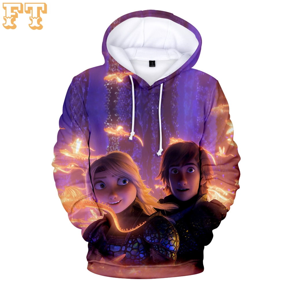 How To Train Your Dragon 3D Hoodies Sweatshirt Carton Parent-child Clothes Family High Quality Pullover Hoodies Sweatshirt
