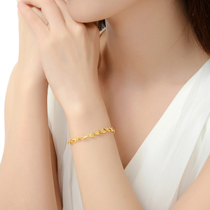 Image 5 - YSF 24K Pure Gold Bracelet Real 999 Solid Gold Bangle Upscale Beautiful  Romantic Trendy Classic Jewelry Hot Sell New 2020
