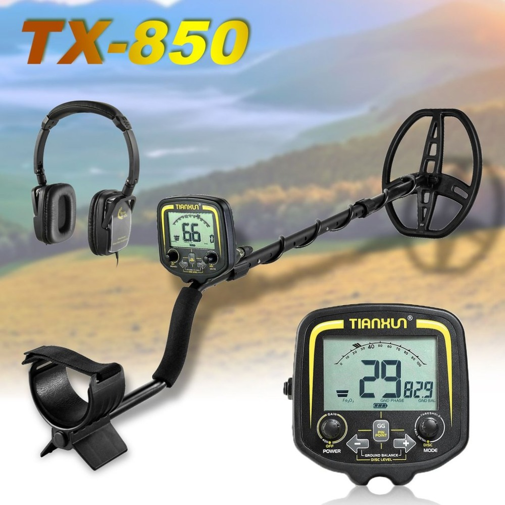 Professional Metal Detector High Performance Underground Metal Detector TX-850 max detecting depth 2.5m Gold hunter finder professional tx 850 deep penetrating gold nugget hunter pinpointing metal detector 19 khz frequency adjustable position armrest