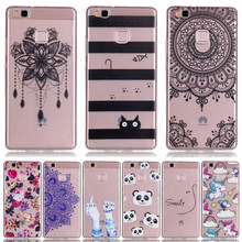 Cases sFor Huawei P9 Lite TPU Soft Clear Printing Drawing Silicone Phone Cover for Fundas Huawei Ascend P9 lite Cases Cover(China)