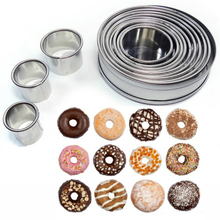 12Pcs/Set Round Shape Cutting Molds Stainless Steel Mousse Cake Ring Cutter Tool 14pcs set stainless steel dumplings wrappers cutter maker tools cake moulds mousse ring round stainless steel cookie molds set