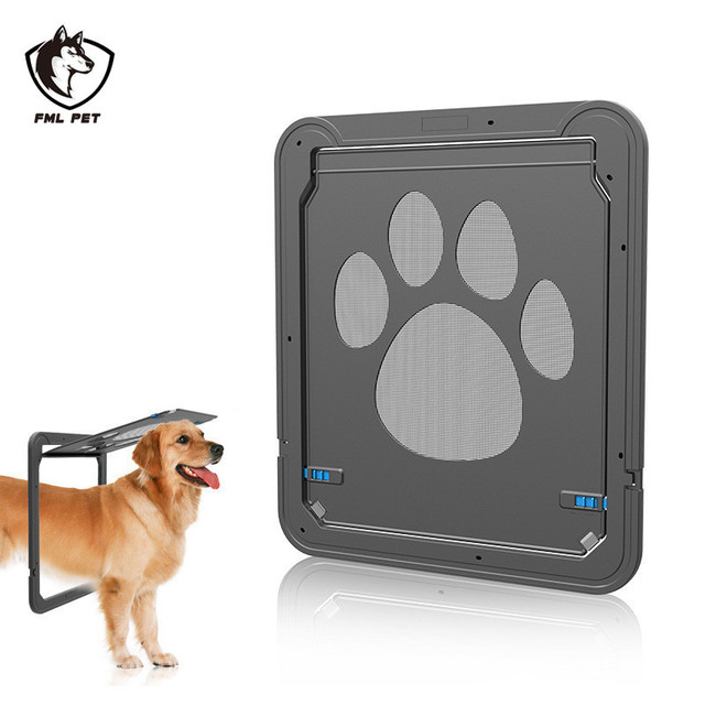 Fml Magnetic Automatic Locking Pet Screen Door Large Dog Gate Pet