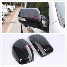For Toyota Land Cruiser 150 Prado LC150 FJ150 2010-2018 Carbon Fiber Side Mirror Overlay Cover Chrome Car-Styling Accessories