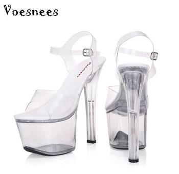 e1f2b4e189e4 Босоножки женская стильная обувь на высоком каблуке с центральным ремешком  на ...