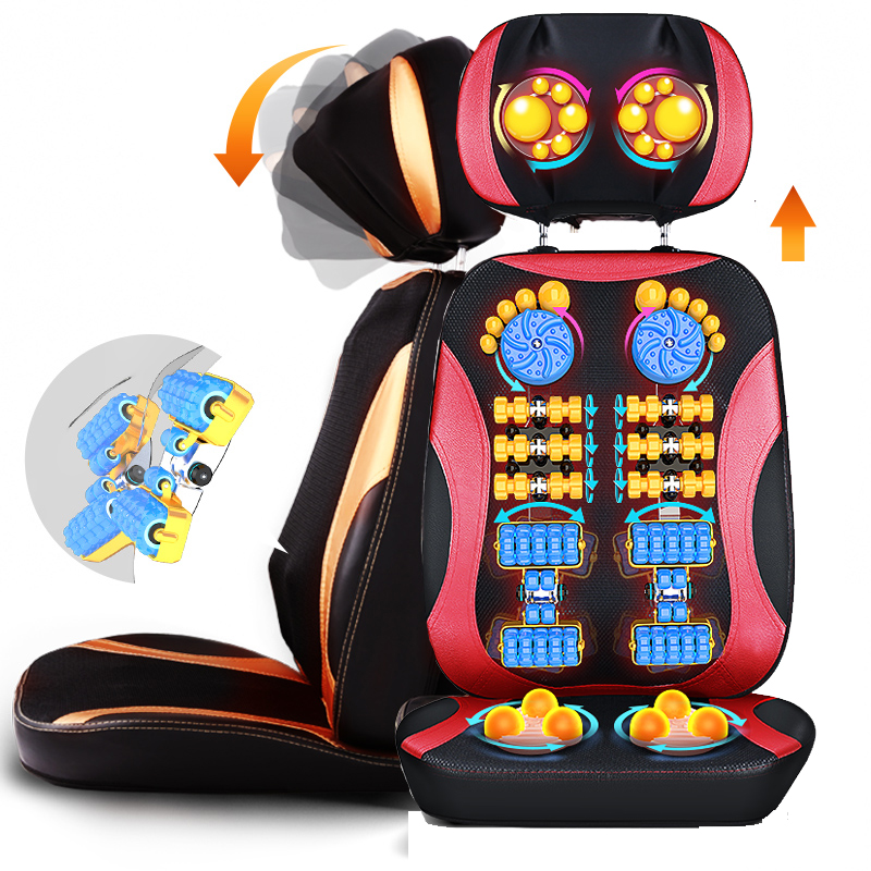 цена на 5D Electric back massager vibra Cervical massage device multifunctional pillow neck household full-body Massage chair