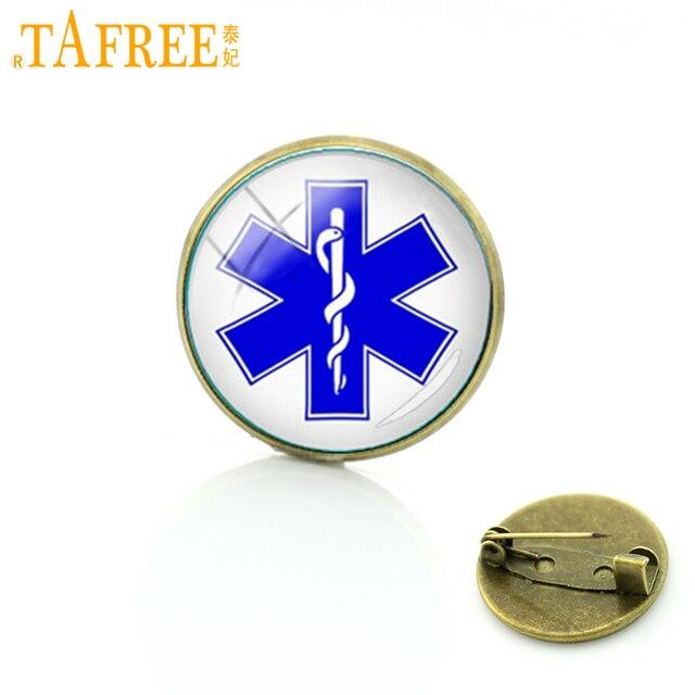 TAFREE Squisito stella della vita spille pins Diabetici Medical Alert Dentista Medico distintivo delle donne yoga mandala gioielli T807