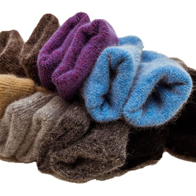 New High Quality Angola Rabbit Merino Wool Socks Women Winter Socks Women  Female Socks Warm Socks For Women Big Size 0d6fe5552b