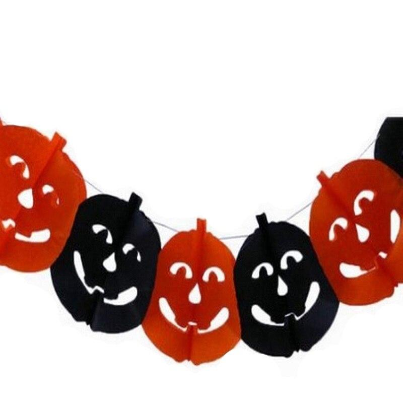 Papel de Halloween de la cadena guirnalda decoración Prop calabaza ...