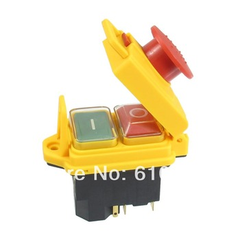 JCZ3B/YCZ3-C 5-Pin SPST Momentary Waterproof Electromagnetic Switch 120V 250VAC 12A