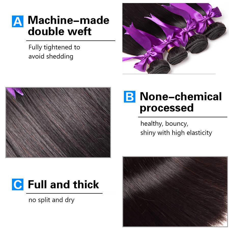 Peruanische Gerade Haar Bundles Menschliches Haar Bundles Remy Menschenhaar Extensions 4 PCS ALIPOP Natürliche Farbe Weben Kein Verschütten
