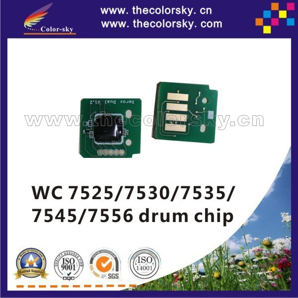 US $11 0 |(TY X7525D) compatible reset drum counter chip for Xerox  WorkCentre wc 7525 7530 7535 7545 7556 013R00662 kcmy (125k pages)-in  Cartridge