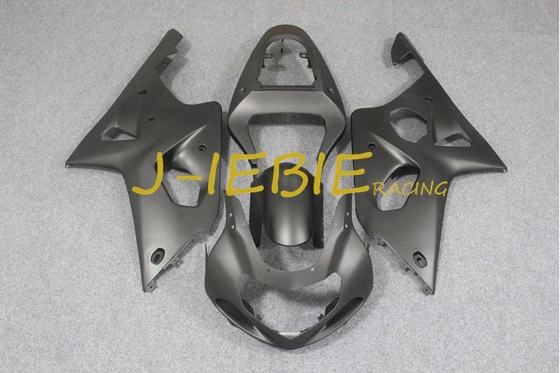 Matt black Injection Fairing Body Work Frame Kit for SUZUKI GSXR 1000 GSXR1000 K1 2000 2001 2002