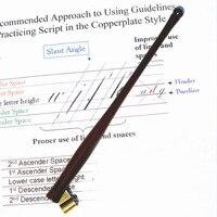 10 pieces per lot Handmade Rosewood Copperplate Script Oblique Dip Pen Nib Holder Best Gift Calligraphy Dip Pen