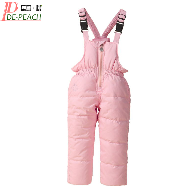 цена на 5 Colors Children Winter Down Pant Jumpsuit For Baby Boys Girls Ski Suit Down Overalls Pants Kids Toddler Clothing High Quality