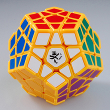 LeadingStar Megaminx I 12 axis 3 rank Dodecahedron Yellow with Corner Ridges Magic Cube Speed Twisty