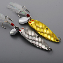 1 sztuk łyżka 7g/10g/15g VMC wtapianie haki metalowe przynęty woblery rozwiązania isca sztuczne Pesca