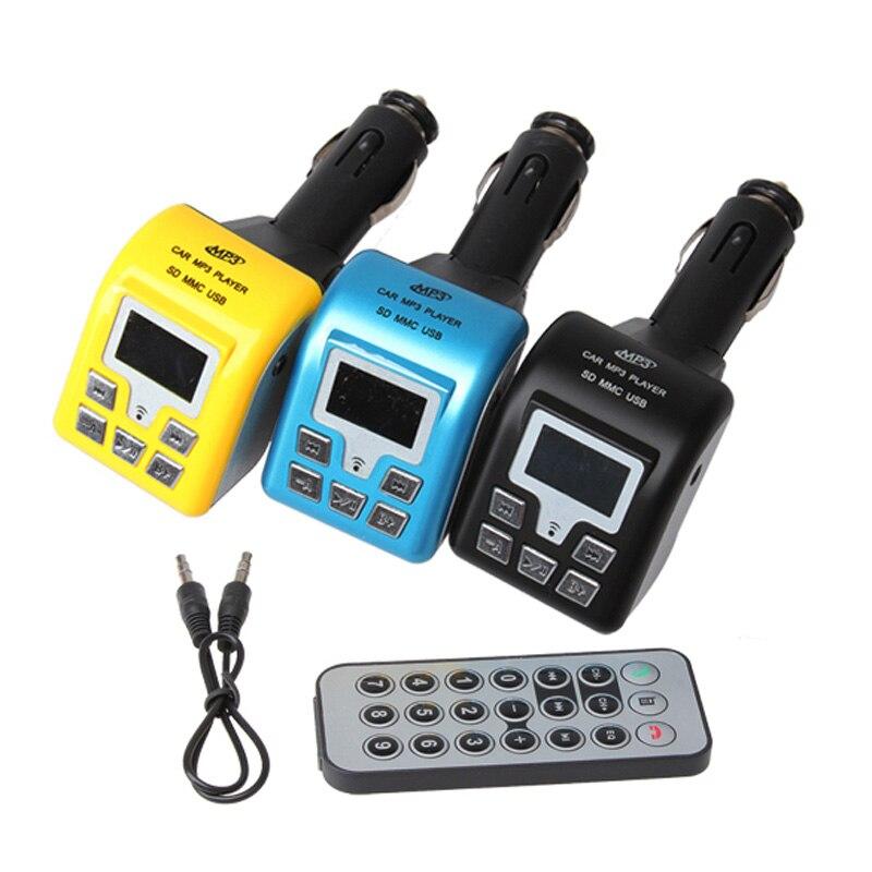 Bluetooth coche Transmisor FM con Control Remoto MP3/Wma USB SD Mmc Del Coche El