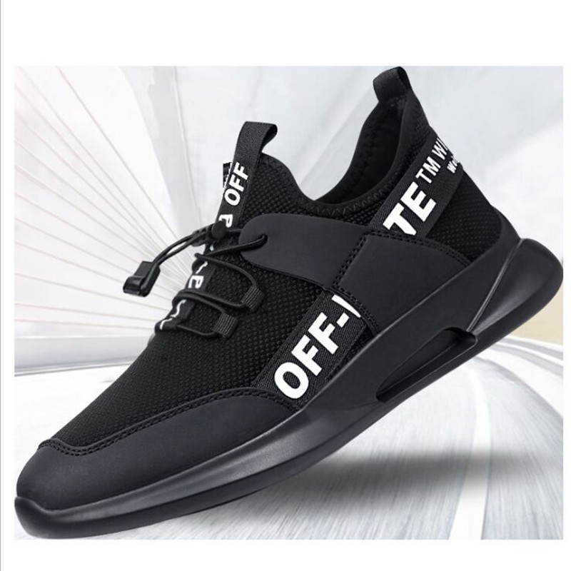 Sneakers Sports-Shoes Walking-Shoes Trends Comfortable Ultra-Light Male Black New Man