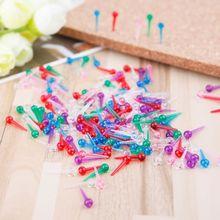 200 шт Пластиковые безопасные нажимные булавки для изготовления шарфов портного офиса школьные принадлежности