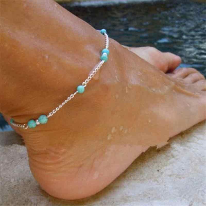 H: hído mariposa corazón hoja colgante tobilleras Cadena de pie verano playa sandalias descalzas pierna pulsera hecha a mano tobillera joyería