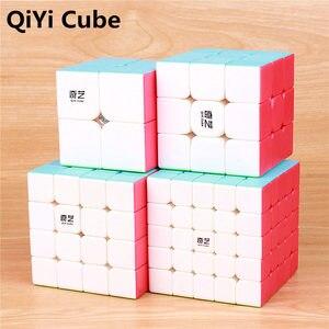 Image 1 - Qiyi Warrior 3X3X3 4X4X4 5X5X5 Magic Cubes Kinderen speelgoed Speed Puzzels Kubus Learning Sticker Minder Magico Speelgoed Pocket Cube 2x2x2