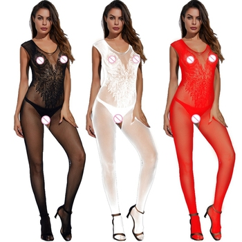 Hot Woman Teddies Sex Body Stocking Novelty & Special Use Exotic Apparel Vest Sexy Lingeries Angle Wings Pattern Latex Catsuit 6