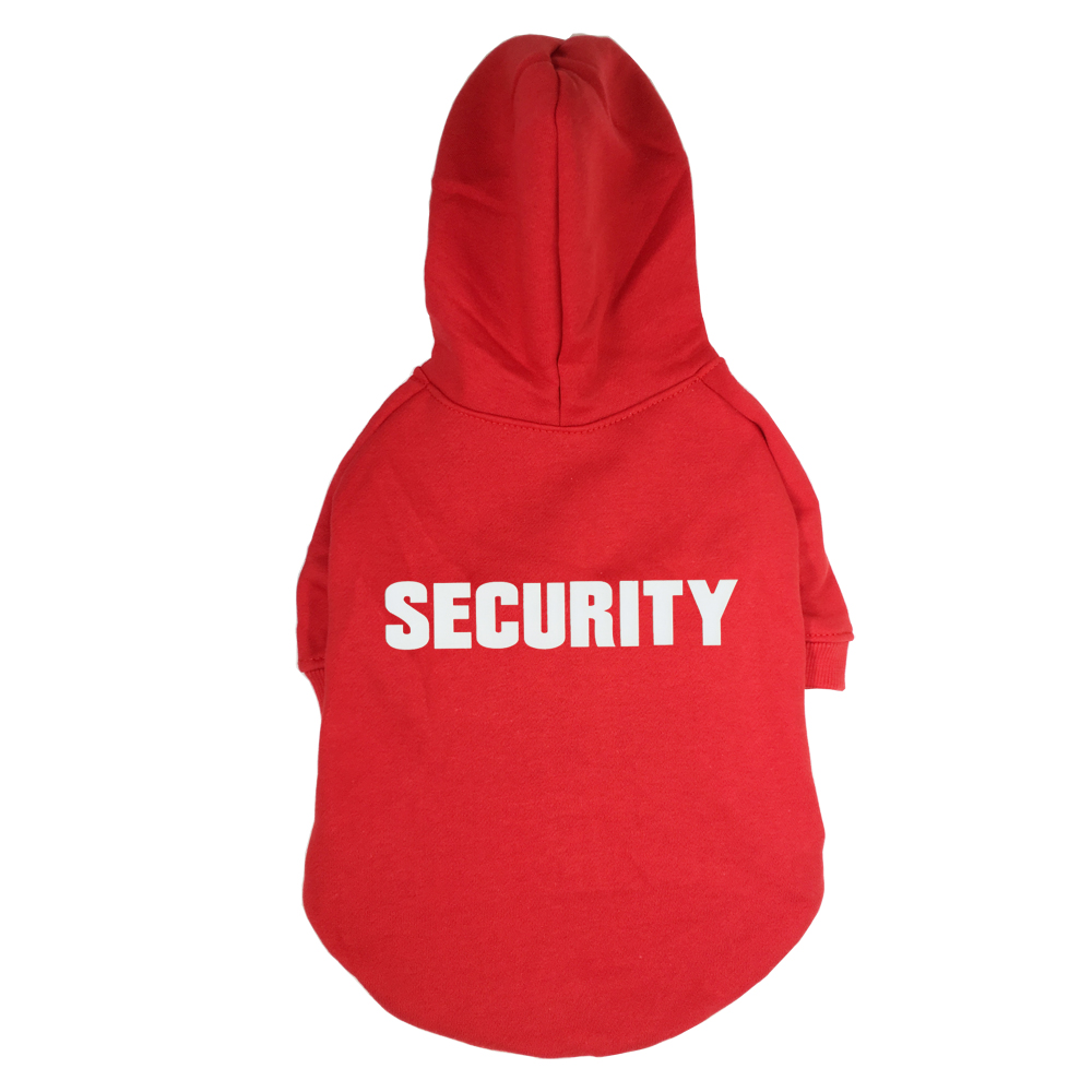 Security Printed Pet Puppy Dog Clothes Hoodies Jumpers Tracksuits for Chihuahua Teacup Care or Large Dogs ...