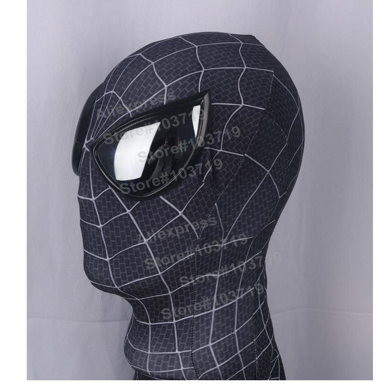 Hero Catcher High Quality Black Spiderman Costume With 3D Spider - Կարնավալային հագուստները - Լուսանկար 5