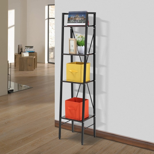 Langria 4 Tier Planken Ladder Boekenkast Opslag en Display Staande ...