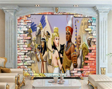 Beibehang Home Decoration Large Living Room Bedroom Wallpaper Ancient  Egyptian Mural 3d TV Background Wall Murals 3d Wallpaper Part 96