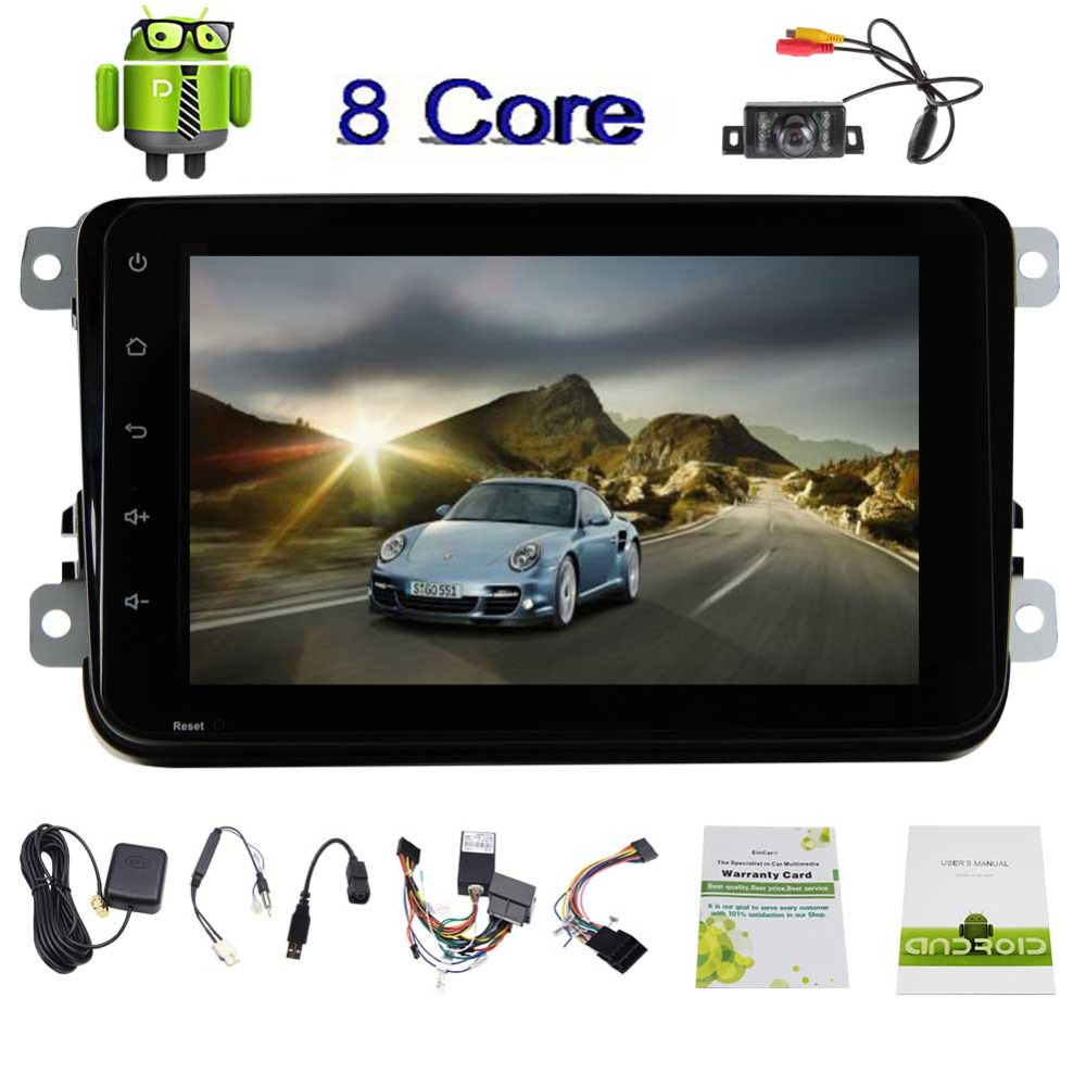 EinCar Rearview Camera 8 Android 7 1 Car Stereo Navigator Otca Core In Dash Car Radio