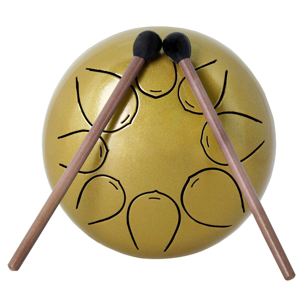 5 Inch Steel Tongue Drum 8 Tune Hand Pan Drum Tank Hang Drum With Drumsticks Carrying Bag Percussion Instruments5 Inch Steel Tongue Drum 8 Tune Hand Pan Drum Tank Hang Drum With Drumsticks Carrying Bag Percussion Instruments