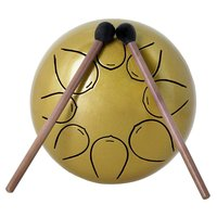 5 Inch Steel Tongue Drum 8 Tune Hand Pan Drum Tank Hang Drum With Drumsticks Carrying Bag Percussion Instruments
