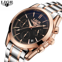 Relogio Masculino LIGE Mens Watches Top Brand Luxury Men S Military Waterproof Sports Watch Men S
