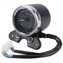 Мотоцикл Скорость метр одометра измеритель скорости шестерни цифровой дисплей 9,5 см монтажное отверстие одометр мотоцикла универсальный