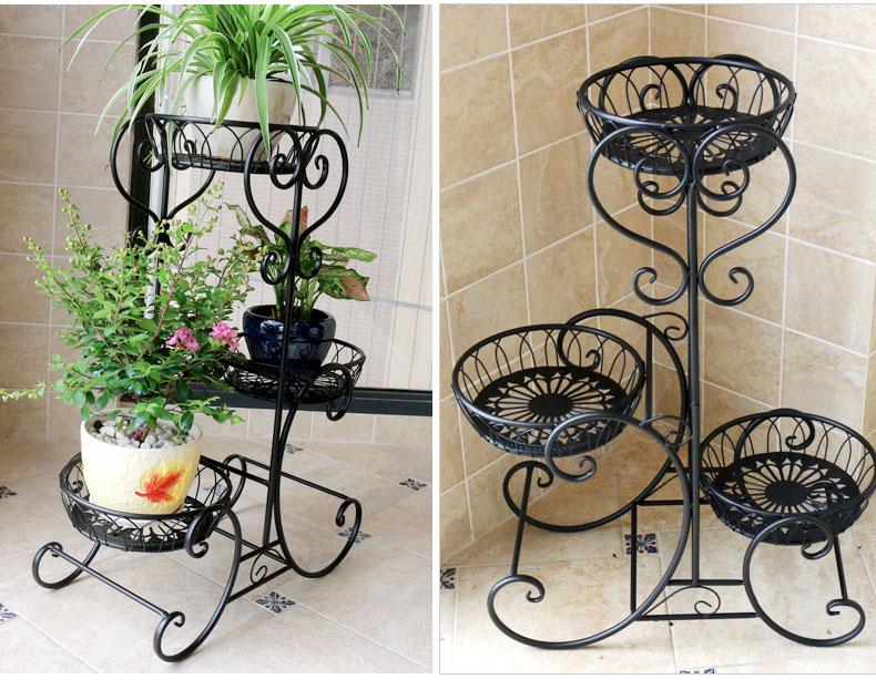 3 Pots European Balcony And Indoor Flower Pot Holder