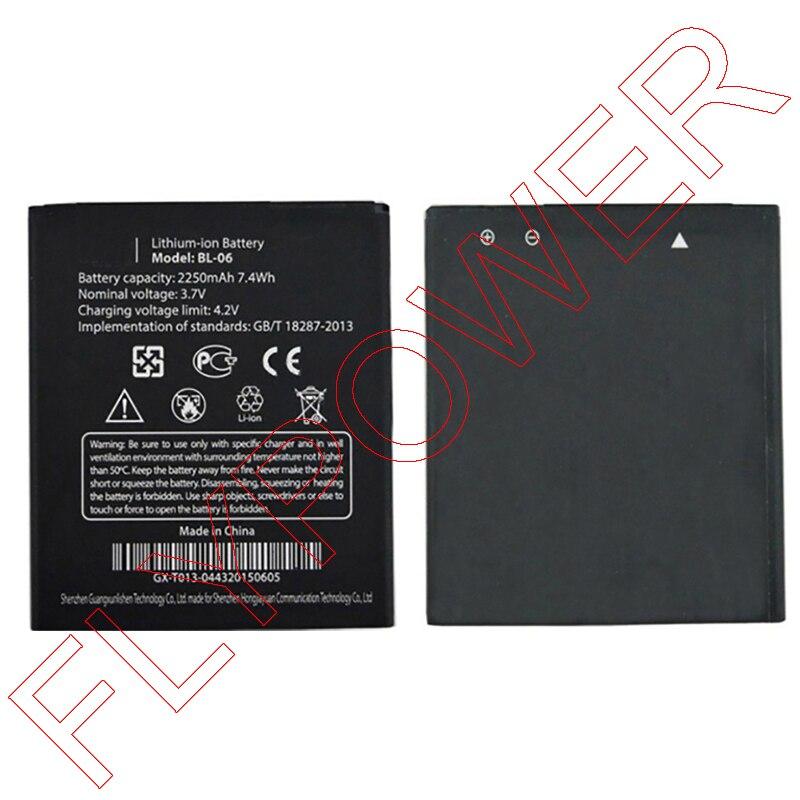 100% Гарантия литий-ионный 2250 мАч bl-06 Батарея для <font><b>THL</b></font> T6 T6s T6 Pro <font><b>T6C</b></font> смартфон по Бесплатная доставка