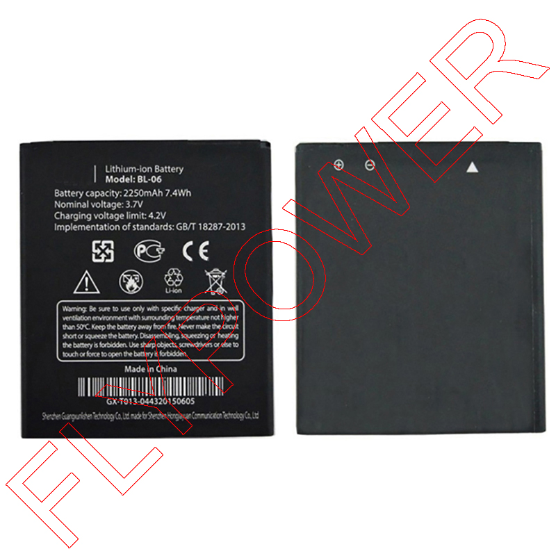 100% Warranty Lithium-ion 2250mAh BL-06 <font><b>Battery</b></font> For <font><b>THL</b></font> T6 T6S T6 pro <font><b>T6C</b></font> Smartphone By Free Shipping
