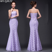 DM-2670Z#Spring summer new long Dresses white and red 2021 tail sexy slim bride violet toast suit wedding dress wholesale cheap