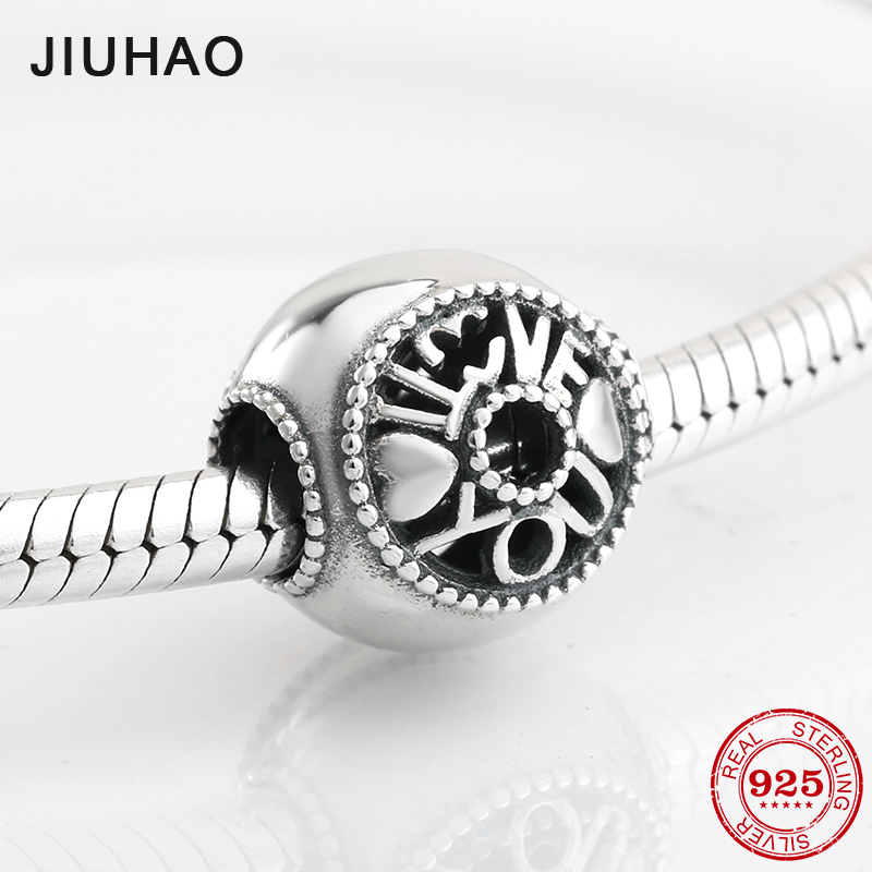 Best love to family fashion beads womens accessories 925 Sterling Silver Fit Original Pandora Charm Bracelet Jewelry making