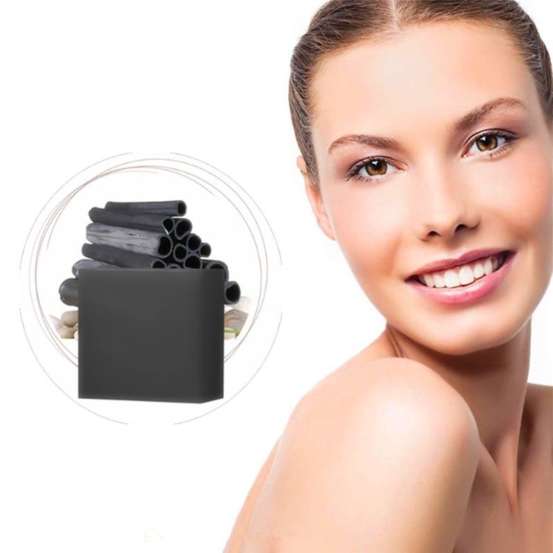 Shrink Pores Bamboo Charcoal Serum Face Washing Soap Whitening/moisturizing Remove Dark Spots Chinese Herbal Handmade Soap 1Pcs