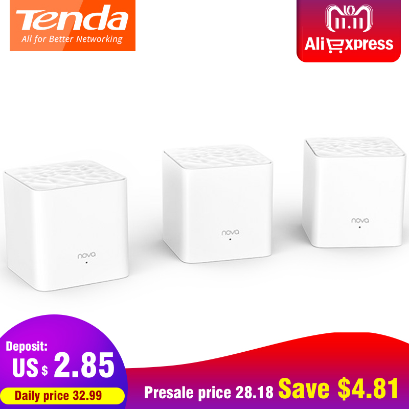 Tenda Nova MW3 Wifi Router AC1200 Dual-Band for Whole Home Wifi Coverage Mesh WiFi System Wireless Bridge, APP Remote Manage цена и фото