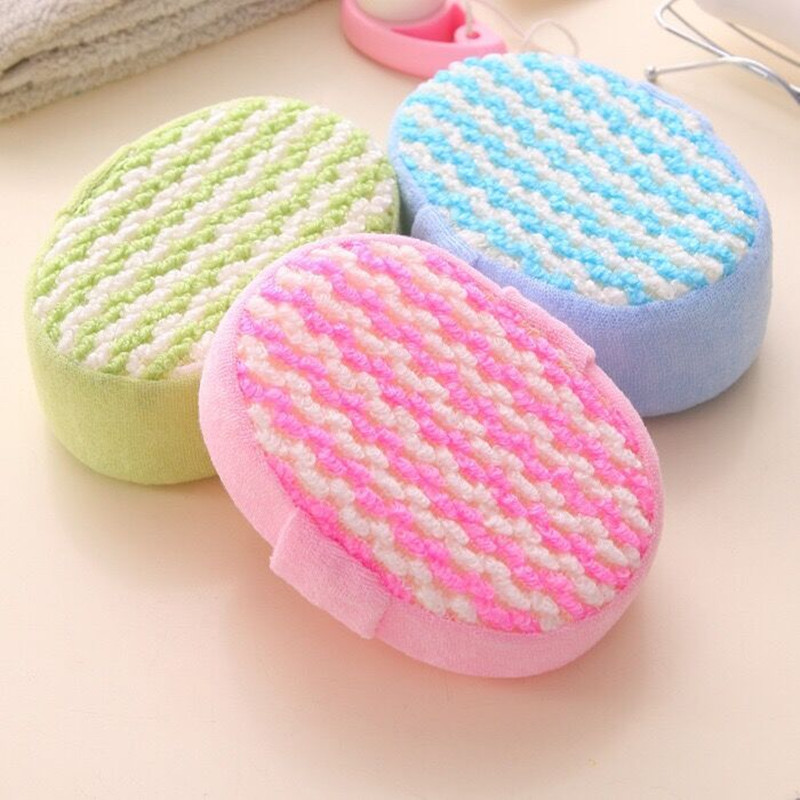 Official Website New Hotsale Best Price In Aliexpress Promotion Yellow Round Bath Body Shower Soft Sponge W Hanging Loop Furniture