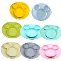 Plato de silicona para bebés platos tipo tazón de alimentación para bebés cuenco de silicona para bebés platos de gel de sílice para niños vajilla