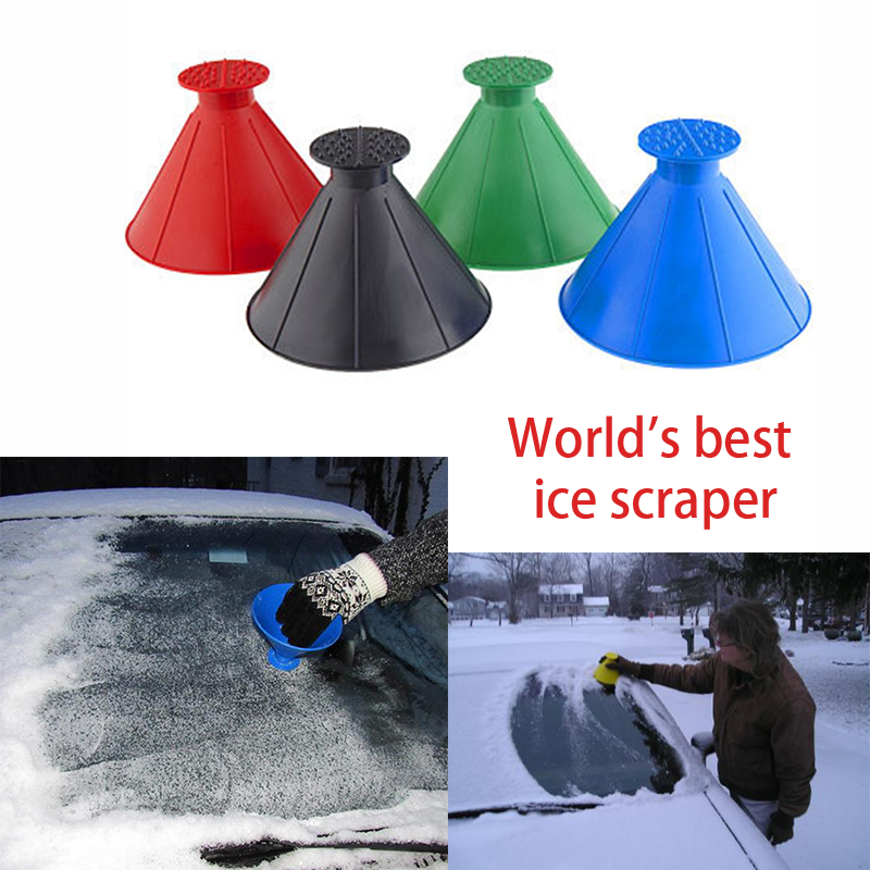 Tools United Outdoor Ice Shovel Cone Shaped Funnel Snow Remover Clean Tool Scrape Ice Scraper Useful Car Windshield Snow Removal Magic Garden Tools